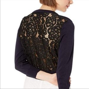 Karl Lagerfeld sweater navy and black lace…